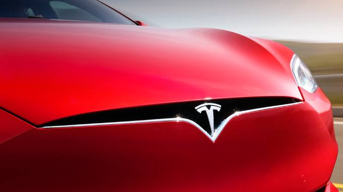 Tesla model s red grill